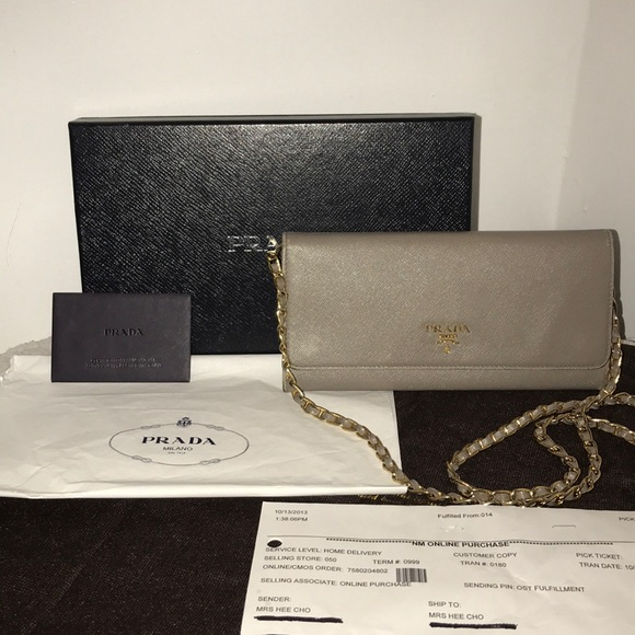 bc5f33f0ef9e30 Prada Bags | Wallet On A Chain Crossbody | Poshmark